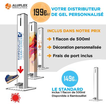 Aluplex ditributeur de gel hydroalcoolique