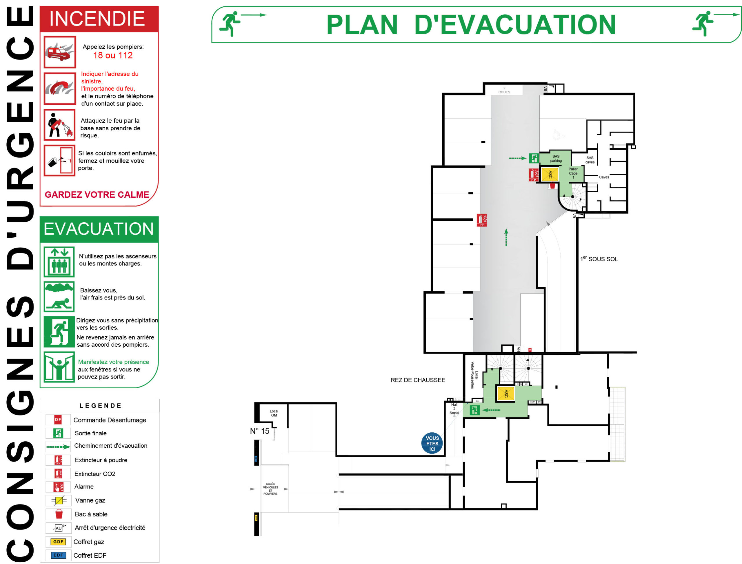 PLAN EVACUATION ALUPLEX SIGNALETIQUE