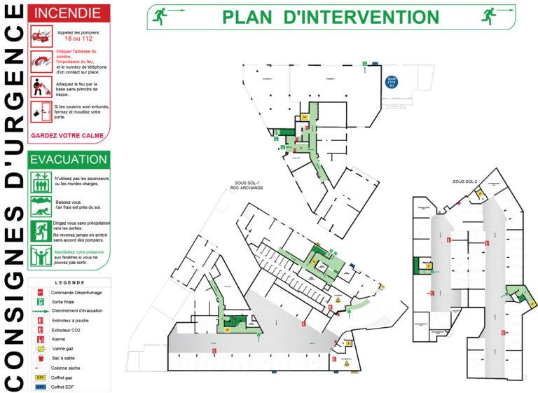 plan d'intervention aluplex signaletique