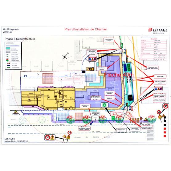 plan installation chantier aluplex signaletique
