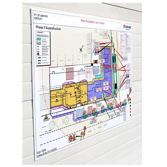 illustration plan installation chantier aluplex signaletique