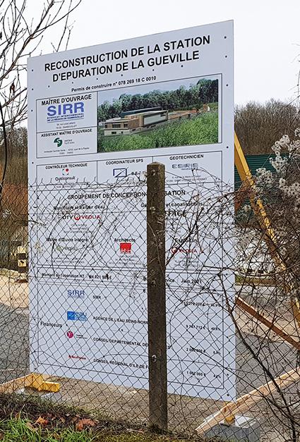 panneau de chantier permis de construire