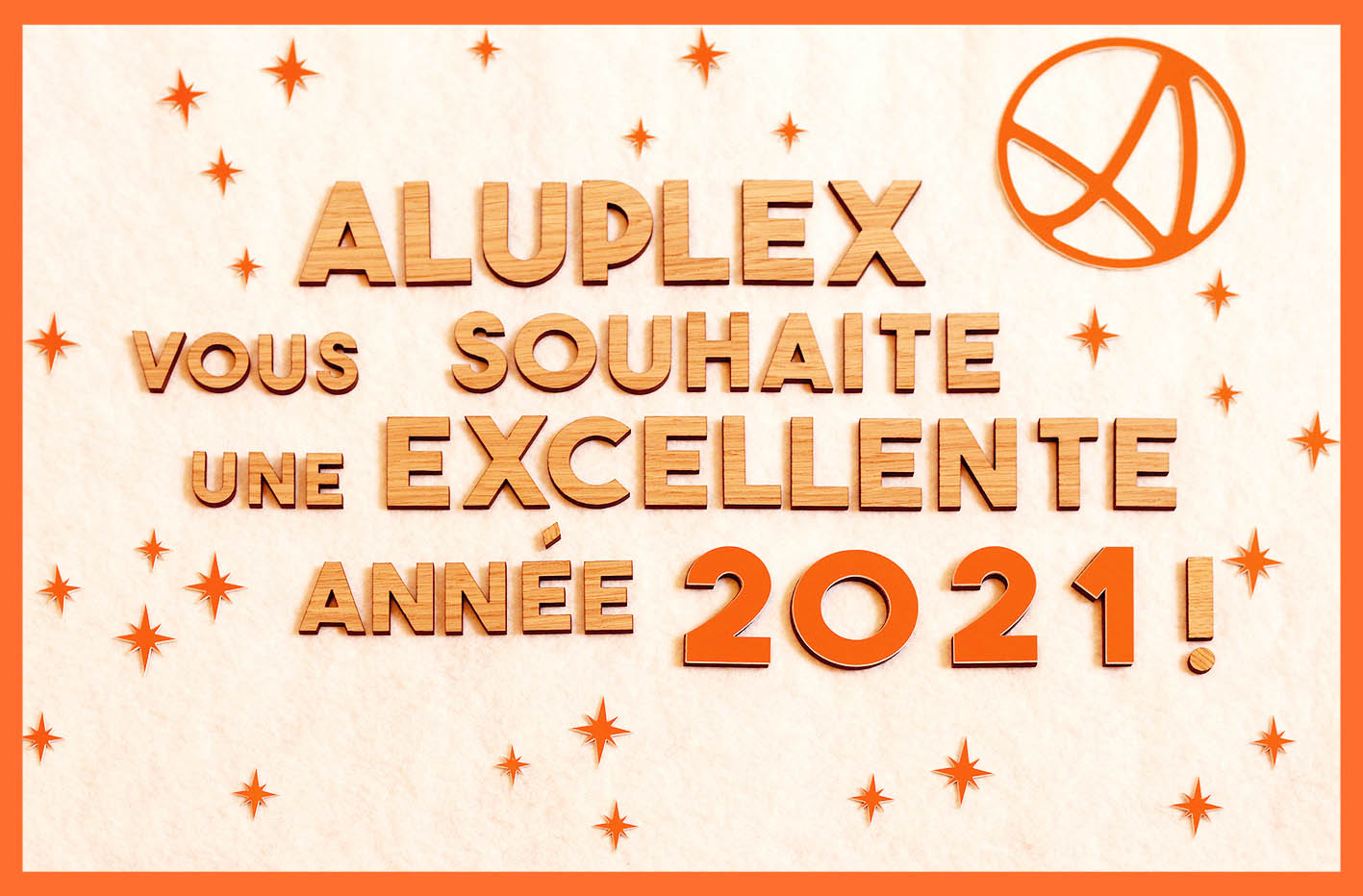 vœux aluplex signaletique 2021
